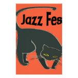 Jazz Fest Chat Noir, Red 2015 Stationery