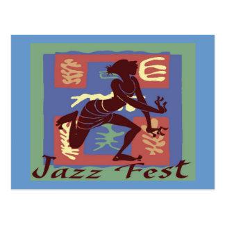 Jazz Fest Dancer  After Matisse Postcard