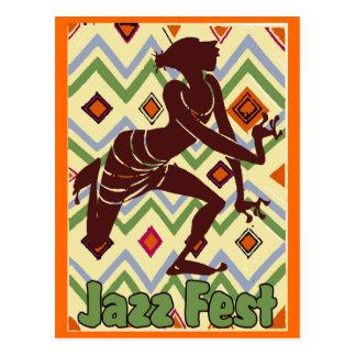 Jazz Fest Dancer Too Postcard