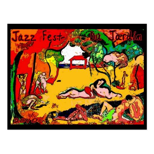 Jazz fest Du Jardin 2010 Postcard