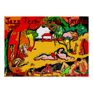 Jazz Fest Du Jardin 2010 Poster