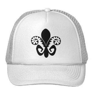 Jazz Fest Fleur de lis (b & w) Trucker Hat