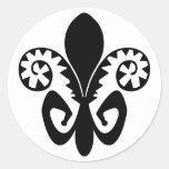 Jazz Fest Fleur de lis (black) Round Sticker