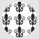 Jazz Fest Fleur de lis (black) Round Stickers