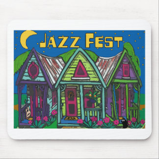 Jazz fest Houses Mouse Pad