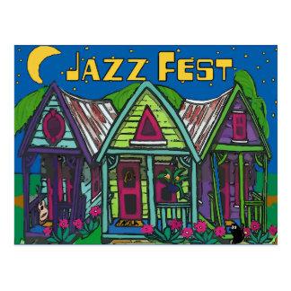 Jazz Fest Houses Postcard