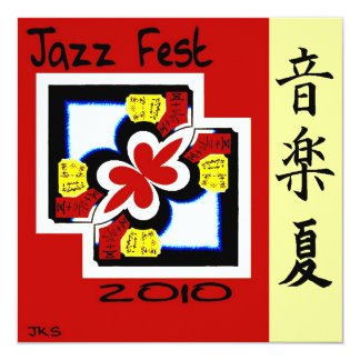 Jazz Fest Kanji Card