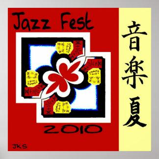 Jazz Fest Kanji Poster