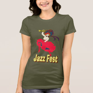 Jazz Fest Lady With Horn T-Shirt
