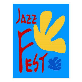 Jazz Fest Leaves 1 Postcard