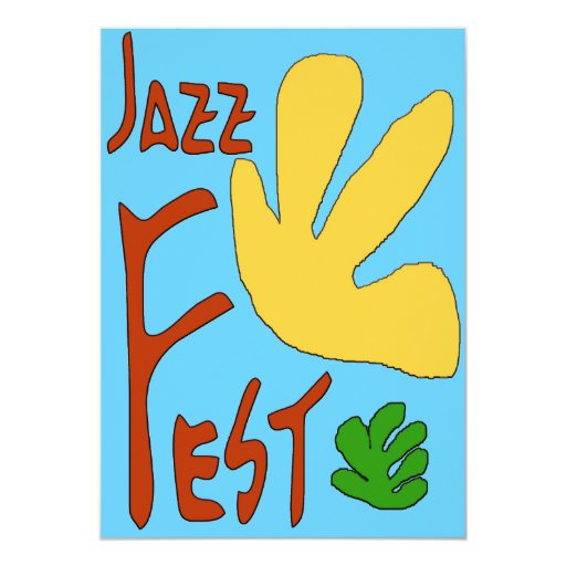 Jazz Fest Leaves 5x7 Paper Invitation Card