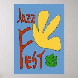 Jazz Fest Leaves print
