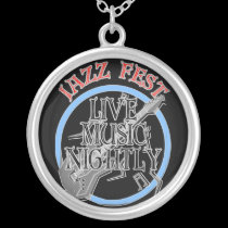 Jazz fest Live Music Black necklaces