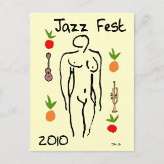 Jazz Fest Matisse Style postcard