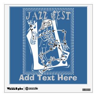 Jazz Fest Music Poster Wall Sticker