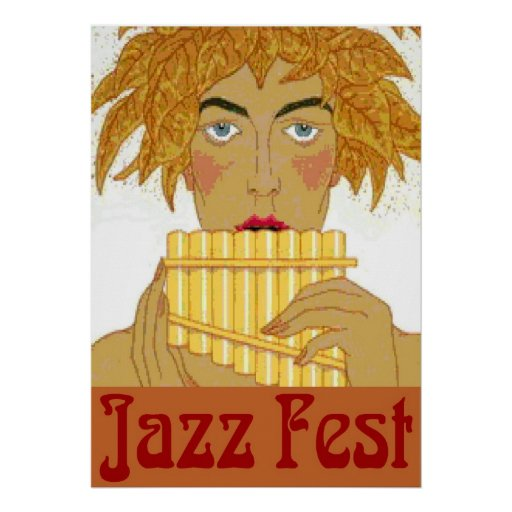 Jazz Fest Pan on Flute Posters