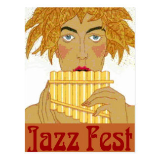 Jazz Fest Pan Postcard