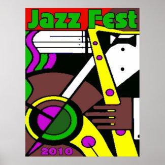 Jazz Fest Poster 2010 print