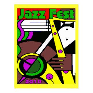 Jazz Fest Poster 2010 Postcard