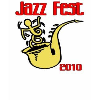 Jazz Fest Sax Poster shirt
