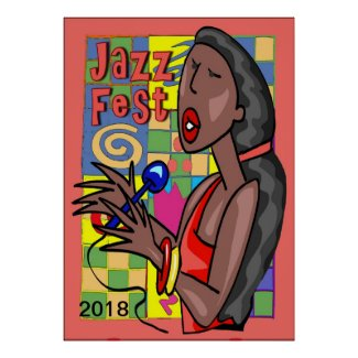 Jazz Fest Singer 2018 edit text Poster