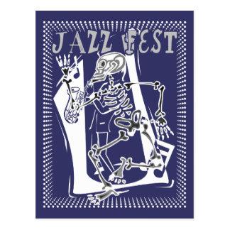 Jazz Fest Skeleton 2011 Postcard