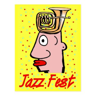 Jazz Fest Tuba Head Postcard