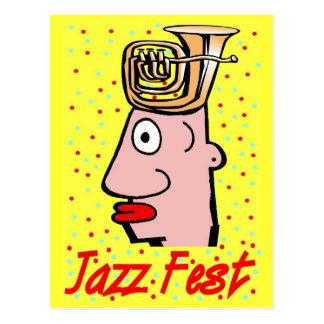 Jazz Fest Tuba Head Postcard