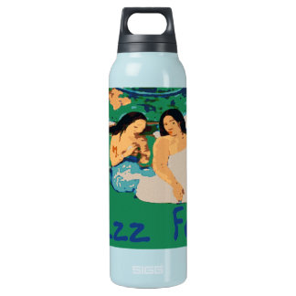 Jazz Fest Woman Under a Tree Smoking Insulated Water Bottle
