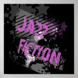 Jazz Fiction póster Black Poster