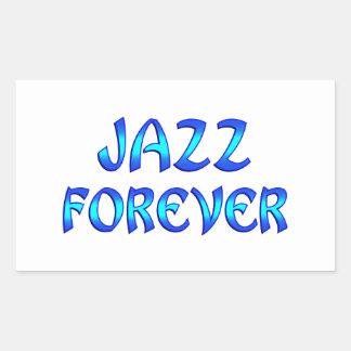 Jazz Forever Rectangular Sticker