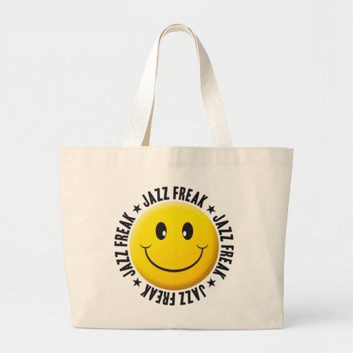 Jazz Freak Smiley Jumbo Tote Bag