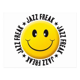 Jazz Freak Smiley Postcard