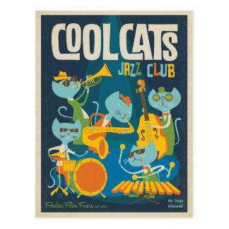 Jazz fresco de los gatos postal