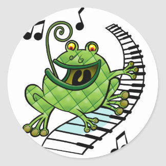 Jazz Frog Classic Round Sticker