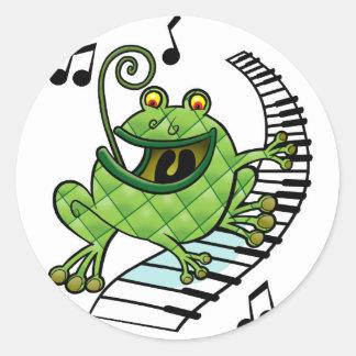Jazz Frog Classic Round Sticker