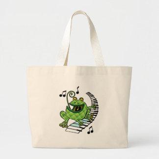 Jazz Frog Jumbo Tote Bag
