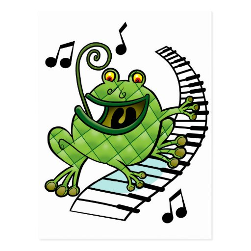 Jazz Frog Postcard