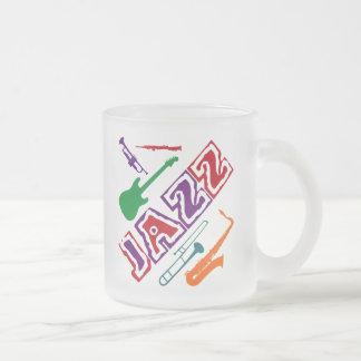 Jazz Frosted Glass Coffee Mug