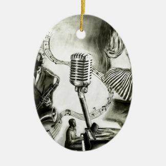 Jazz grande adorno ovalado de cerámica