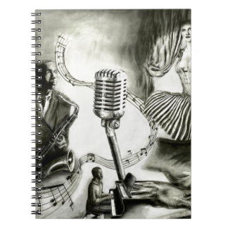 Jazz grande libro de apuntes con espiral