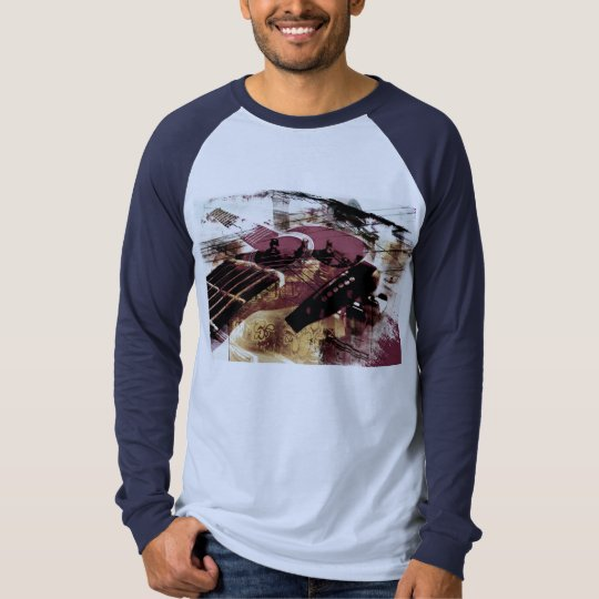 jazz guitar improv collage T-Shirt