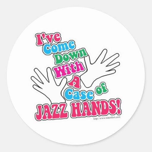 Jazz Hands! Classic Round Sticker
