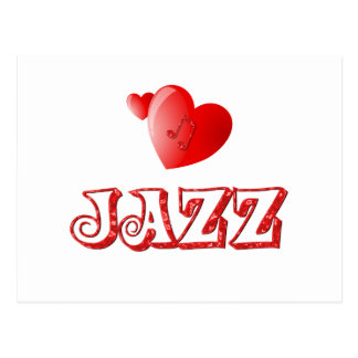 Jazz Hearts Postcard