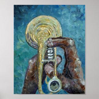 Jazz Horn Poster