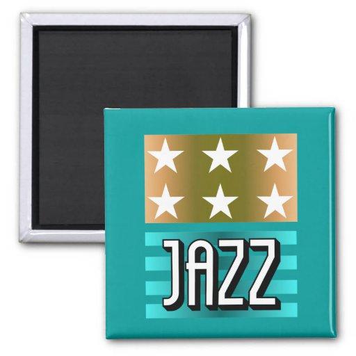 jazz imán cuadrado