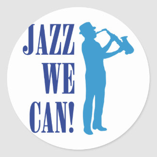 jazz incoming goods CAN Classic Round Sticker