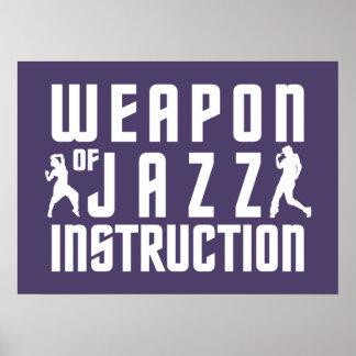 Jazz Instruction custom color poster