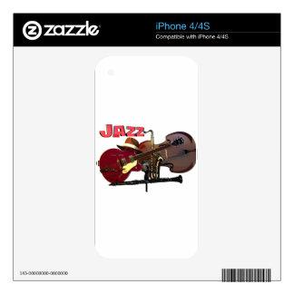 Jazz iPhone 4 Calcomanías