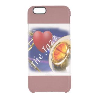 Jazz Iphone, Ipad del amor del músico del Trombone Funda Clearly™ Deflector Para iPhone 6 De Uncommon